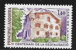 TIMBRE N° 289      ANDORRE FRANCAIS  -  NEUF   - 1980 - French Andorra