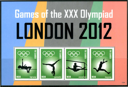 "GAMBIA 2012** - Games Of The XXX Olympiad - ""London 2012"" - Block Di 4 Val. MNH Come Da Scansione"