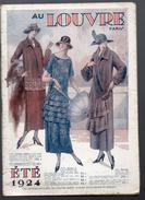 (Paris) Catalogue AU LOUVRE  été 1924 (CAT 554) - Textile & Vestimentaire