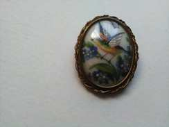 Broche Porcelaine De Limoges - Spille