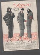 (Paris) Catalogue AU LOUVRE  Hiver 1924-25 (CAT 555) - Textile & Vestimentaire