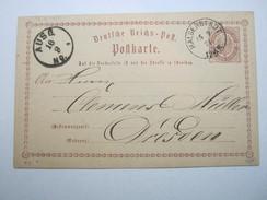 1874 , Halberstadt    , Klarer Stempel Auf Ganzsache - Deutschland