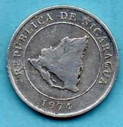 R80/  NICARAGUA 10 CENTAVOS 1974 FAO Alu  Km#29 - Nicaragua