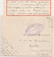 """CHERCHELL Algérie, ECOLE MILITAIRE. TEXTE ! """"surtout Pas Par Les Armes"""" """"beaucoup De Morts En Ce Moment""""...4 SANS. - Postmark Collection (Covers)"""