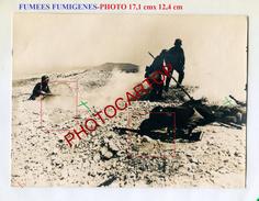 FUMIGENES-FUMEE-Dissimulation-Grosse PHOTO Allemande-Guerre 14-18-1 WK-Militaria- - Guerra 1914-18