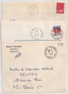 3 Cachets  BEAUNE ENTREPOT Cote D'Or. 1966, 1967 Et 1971. - Postmark Collection (Covers)