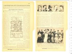 2 Scans Document 1901 L'Insurrection Anti-étrangère En Chine Boxers De Ketteler Pichon Liu-Tai-Lan Seymour Pékin VP204/2 - Publicités