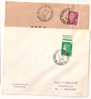 2 Cachets 15 - AURILLAC R.P ENTREPOT Cantal. 1969 Et 1970. - Postmark Collection (Covers)