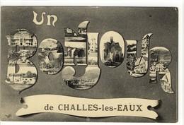 Carte Postale Ancienne Fantaisie Challes Les Eaux -  Un Bonjour - Multivues - Frankrijk