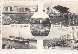 Belgique - Ostende Oostende - Paquebot Courses Hippiques Tribunes - Oostende