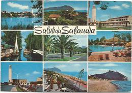 T1889 Saluti Da Sabaudia (Latina) - Panorama Vedute Multipla / Viaggiata 1973 - Italia