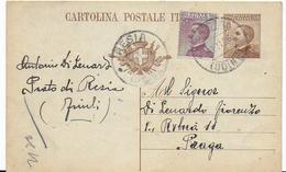 STORIA POSTALE REGNO - INTERO POSTALE VITT.EMANUELE III PER ESTERO - 1900-44 Vittorio Emanuele III