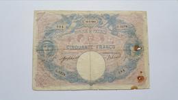 FRANCIA 50 FRANCS 1914 - 1871-1952 Circulated During XXth