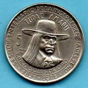R300/  PERU / PEROU 5 SOLES DE ORO 1971 ( 150 Ans Indépendance ) Km#254 - Pérou