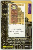 TESSERA FILATELICA  - CENTENARIO DELL´INAUGURAZIONE DEL TEMPIO MAGGIORE IN ROMA - ANNO 2004 - 2 TESSERE - - Cartes Philatéliques