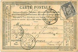 Cpa Précurseur 1878 De CARPENTRAS à ROUEN , Via ECOUEN, Emmanuel VALABREGUE - Entiers Postaux