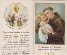 CALENDARIETTO 1954 S.ANTONIO DI PADOVA - Calendari