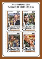 Central Africa 2016 Steven Spielberg 70th Aniv Cinema Jurassic Park Dinosaurs S/S CA16913 - Stamps