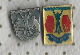 Yugoslavia, Macedonia, Titov Veles, Veles, Kiro Kucuk, Production Of Construction Materials.2 Pins - Beverages