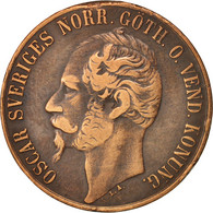 Suède, Oscar I, 5 Öre, 1858, TTB, Bronze, KM:690 - Suède