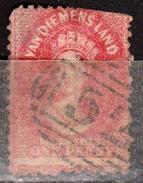 TERRE DE VAN DIEMEN - TASMANIE - TASMANIA - AUSTRALIE - AUSTRALIA - COLONIE BRITANNIQUE - 1864  N° 16  OBLITERE - 1853-1912 Tasmania