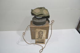 Masque à Gaz Défense Passive Allemand Ww2 Deuxième Guerre Mondiale  Gebrauchsanweisung M44 1939/1945 - 1939-45