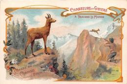 AUTRICHE - Tyrol - Carte Chromo - Chasseurs Et Gibiers - Chasse Au Chamois - Voir Description - Österreich