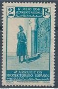 MA169SGDEV-L4183TMA.Maroc.Marocco  .MARRUECOS ESPAÑOL ALZAMIENTO NACIONAL 1937(Ed 181**) Sin Charnela MAGNIFICO - Marruecos (1956-...)