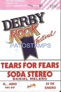 64711 ARGENTINA GROUP MUSIC SODA STEREO DERBY ROCK FESTIVAL ESTADIO VELEZ 1990 ENTRADA NO POSTAL TYPE POSTCARD - Other Collections