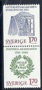 SWEDEN 1986 Academy Anniversaries MNH / **.  Michel 1382-83 - Sweden