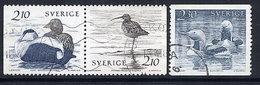 SWEDEN 1986 Waterfowl, Used.  Michel 1376-78 - Sweden