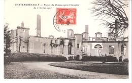 Chateaurenault-Château-Renault-Loches-Indre Et Loire-Ruines Du Château Après L'incendie Du 5 Février 1907-écrite En 1909 - Loches