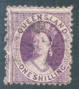 Queensland 1874. 1sh Mauve (p12 - Truncated Star). SG 79. - Gebraucht