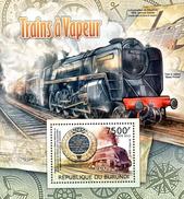 Burundi Block 2012 Dampflokomotive  **/MNH - Trains