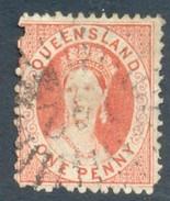 Queensland 1868. 1d Pale Rose-red (p13 - CrownQ). SG 84. - 1860-1909 Queensland