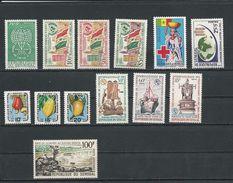 SÉNÉGAL Scott Voir Description Yvert 214, 210-2, 234, 216, 262-4, 252-4, PA47 (13) ** Cote 13,10 $ 1962-65 - Sénégal (1960-...)