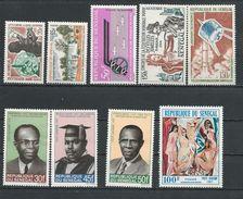 SÉNÉGAL Scott 240-1, C33, C35, C39, C59, C76-8 Yvert 245-6, PA38, PA41, PA45, PA61, PA81-3 (9) * Cote 17,00 $ 1963-70 - Sénégal (1960-...)