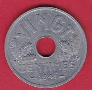 France 20 Centimes Type Vingt Zinc 1941 - SUP - E. 20 Centesimi