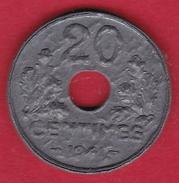 France 20 Centimes Type Vingt 20 1941 - SUP - E. 20 Centesimi