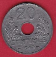 France 20 Centimes Type Vingt 20 1942 - SUP - E. 20 Centesimi
