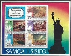 Samoa  1976   Sc#432a  US Bicentennial  Souv Sheet   MNH**   2016 Scott Value $6.50 - Samoa
