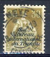 Svizzera Servizio 1923 Bureau International Du Travail N. 36 C. 30 Bistro E Verde Usato Cat. € 110 - Servizio