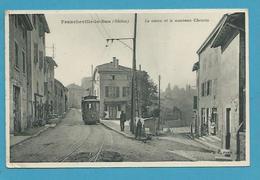 CPA Tramway Le Vieux Et Le Nouveau Chemin FRANCHEVILLE-LE-BAS 69 - Frankreich