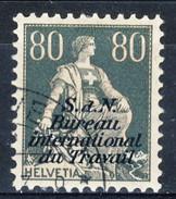 Svizzera Servizio 1923 Bureau International Du Travail N. 41A C. 70 Viola E Bistro CARTA GOFFRATA Usato Cat. € 350 - Servizio