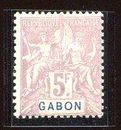 Gabon * N° 32 - 5F Violet