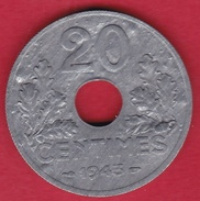 France 20 Centimes Type Vingt 20 1943 - SUP - E. 20 Centesimi
