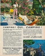 Ancienne Publicite (1965) : Camping Domaine Du Pin De La Lègue, Fréjus (Var) - Publicidad