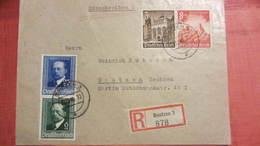 DR Bis 45: R-Brief Mit 25+6 Pf Als MiF Auf Briefvorderseite Vom 20.12.40 Aus Bautzen 3 (878) Knr: 761 Ua - Deutschland