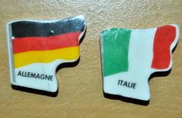 Feves Drapeaux Allemagne Et Italie - Personen