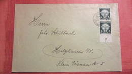 DR Bis 45: Fern-Brief Mit 6 Pf  Reichsberufswettkampf Aus Leipzig Nach Holzhausen Senkr. Paar Mit UR Knr: 689 (2) - Briefe U. Dokumente